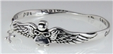 4031139 Guardian Angel Christian Twisted Solid Bangle Stackable Religious Bible