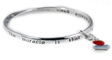 4031148 Teacher Christian Gift Prayer Blessing Twisted Solid Bangle Stackable...