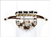 4031185 Christian Cross Beaded Wrap Style Bracelet Religious Fashion Jesus Sc...