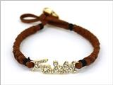 4031188 Faith Braided Leather Cord Style Bracelet Religious Fashion Jesus Scr...