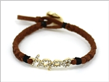 4031190 HOPE Braided Leather Cord Style Bracelet Religious Fashion Jesus Scri...