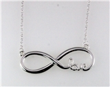 4031212 Eternity Symbol w Love Necklace with 18 Inch Chain & Extender Infinity