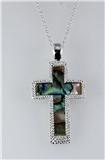 4031213 Beautiful Abalone Cross Necklace Christian Religious Scripture Jesus ...