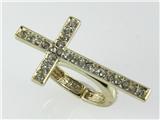 4031218 Beautiful Cross Stretch Ring Brilliant CZ Stones Christian Religious ...