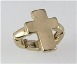 4031253 Gold Plated Cross Stretch Ring Christian Religious Jesus Fashion