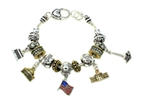 4031305 Red White and Blue US Patriotic Flag Bracelet Monuments USA America
