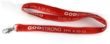 4031308 Godstrong Ephesians 6:10-11 Red Lanyard Badge Holder Necklace Key Chain