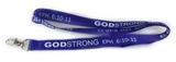 4031310 Godstrong Ephesians 6:10-11 Blue Lanyard Badge Holder Necklace Keychain