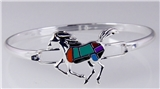 4031322 Beautiful Dancing Horse Bracelet Silver Tone Southwest Style Equine