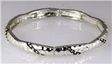 4031333 Designer Inspired Fashion Stretch Bracelet Silver Tone Design