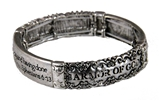 4031344 Ephesians 6:13 Armor of God Stretch Bracelet Stand Firm Against The Evil One Scripture Bible Verse