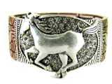 4031345 Dancing Horse Galloping Equine Stretch Bracelet Stunning Cowgirl Up S...