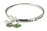 4031405 August Birthday Bangle Bracelet Present Gift Charms Gift Box