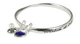 4031406 September Birthday Bangle Bracelet Present Gift Charms Gift Box