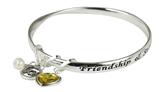 4031408 November Birthday Bangle Bracelet Present Gift Charms Gift Box