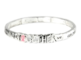 4031422 Together Pink Ribbon Stretch Bracelet We Can Make A Difference Breast...