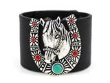 4031435 Horse Horseshoe Faux Leather Bracelet Equine Equstrian Western Theme ...
