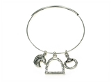 4031438 Western Equine Expandable Bangle Cowgirl Bracelet Cow Girl Up