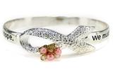 4031449 Pink Ribbon Breast Cancer Awareness Bangle Bracelet