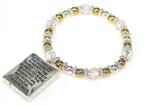4031458 Serenity Prayer Picture Frame Locket Style Stretch Bracelet Bead Beaded