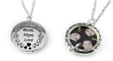 4031461 Faith Hope Love Picture Frame Locket Style Necklace Keepsake Heirloom