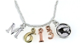 4031464 Matthew 6:13 Initials Necklace Scripture Verse Lords Prayer Our Fathe...