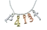 4031465 Philippians 4:13 Initials Necklace Scripture Verse I Can Do All Thing...