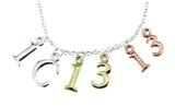 4031467 1 Corinthians 13:13 Initials Necklace Scripture Verse Faith Hope Love...