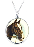 4031505 Horse Pendant Necklace Equine Equestrian Western Theme Cowgirl