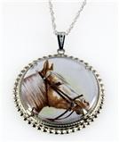 4031507 Horse Pendant Necklace Equine Equestrian Western Theme Cowgirl