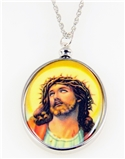 4031509 Jesus Pendant Necklace Crown of Thorns Suffering Crucified Christ