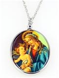 4031512 Madonna & Baby Jesus Necklace Pendant Blessed Virgin Mother of God