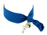 4031529 Stretch Hair Tie Cloth Fabric Cross Christian Bracelet Trendy Fashion...