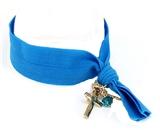 4031530 Stretch Hair Tie Cloth Fabric Cross Christian Bracelet Trendy Fashion...