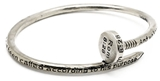 4031552 Nail Bangle Bracelet Romans 8:28 All Things Work Together Scripture