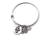 4031564 Cross Faith Charm Stacking Bracelet Fashion Extremely Popular Designer