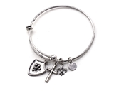 4031567 Cross & Shield Armor of God Charm Stacking Bracelet Fashion Extremely Popular