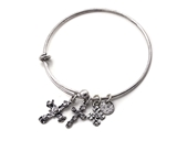 4031573 Designer Cross Charm Stacking Bracelet Fashion Extremely Popular Designer