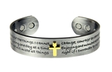 4031672 Solid Copper Magnetic Cuff Bracelet Bangle Serenity Prayer Message Ch...