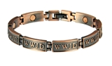 4031681 WWJD Magnetic Bracelet What Would Jesus Do Adjustable Removable Links