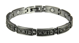4031682 WWJD Magnetic Bracelet What Would Jesus Do Adjustable Removable Links