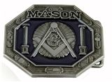 4031709 Mason Belt Buckle Masonic Blue Lodge Square and Compass