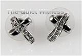5030001 Christian Cross CZ Earrings Scripture Religious Jewelry