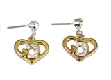 5030001 GOD Earrings Christian Religious Stud Pierced Heart Shaped