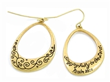 5030003 Christian Scripture Religious Jewelry Earrings Psalm 33:1
