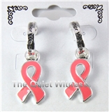 5030007 Pink Breast Cancer Awareness Earrings Together We can Fight