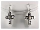 5030018 Christian Cross Scripture Bible Earrings
