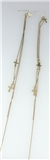 5030028 Long Chain Cross Earrings Christian Religious