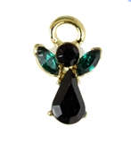 6030005 African American May Birthstone Angel lapel Pin Guardian Angel