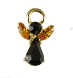 6030011 African American November Birthstone Angel lapel Pin Guardian Angel